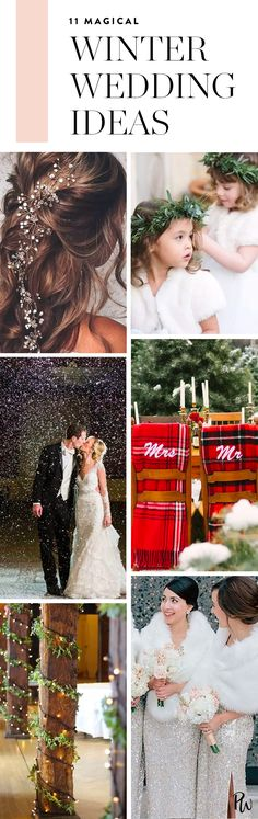 Here are 11 magical winter wedding ideas that will transport you into a stunning winter wonderland. #winterwedding #winterweddingideas #winterweddingdecor #weddingdecorations #weddingideas