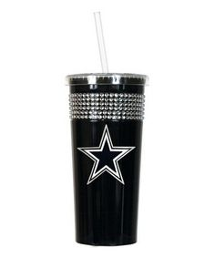 Take a look at this Dallas Cowboys Black Rhinestone Tumbler by Great American Products on #zulily today!