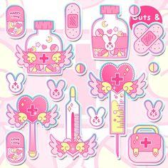 Most Popular Ideas Yami Kawaii Aesthetic Wall Paper Kawaii Stickers, Cute Stickers, Kawaii Drawings, Cute Drawings, Pastell Wallpaper, Candy Gore, Sticker Bomb, Kawaii Wallpaper, Creepy Cute
