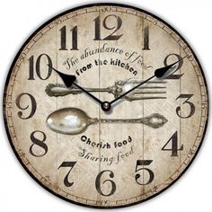 Clock, Wall, Kitchen, Home Decor, Clocks, Watch, Cooking, Decoration Home, Room Decor