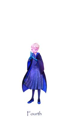 Elsa at Hogwarts year 4, only she's Slytherin