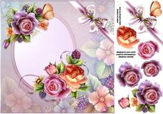 8X8 English roses