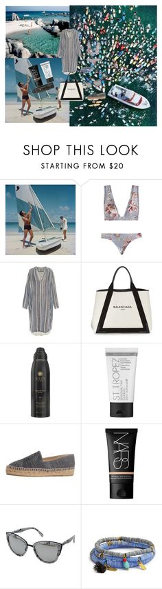 """End of Beach Season"" by atho-12345 on Polyvore featuring Slim Aarons, Jonathan Adler, Zimmermann, Raquel Allegra, Balenciaga, Soleil Toujours, St. Tropez, Chanel, NARS Cosmetics and Quay"