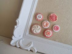 Shades of pink vintage button magnet collection