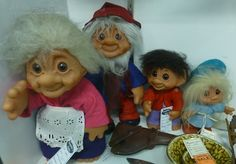 Little troll family  at Angela's Attic in So. Beloit, Illinois