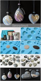 Concrete Jewelry Would you like to make money with jewelry?de - DIY Schmuck und Accessoires - Concrete Jewelry Would you like to make money with jewelry? Polymer Clay Jewelry, Resin Jewelry, Jewelry Crafts, Handmade Jewelry, Pandora Jewelry, Jewelry Ideas, Jewelry Accessories, Concrete Crafts, Resin Crafts