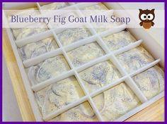 Missouri River Soap: Blueberry Fig Goat Milk Soap
