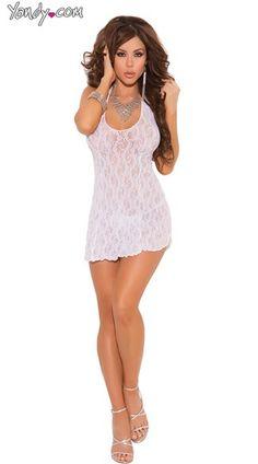Lace Halter Top Mini Dress, Lace Dress Lingerie, See Through Lace Lingerie, Sexy Lace Lingerie
