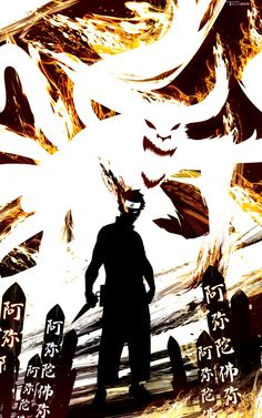 Nine Tail Demon Naruto by TomKellyART