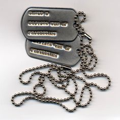 Dog Tags :: Army Navy Store ❤ liked on Polyvore featuring necklaces, jewelry, accessories, army и dog tags