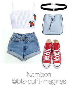 """Traveling in Texas with Namjoon"" by bts-outfit-imagines on Polyvore featuring Converse, Amanda Rose Collection and Armani Jeans"