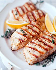 Striped bass is also sold as striper; you can substitute it with other firm, white-flesh fish such as black sea bass, trout, or grouper. We serve the fillets over corn and clam chowder sauce, but they are also delicious on their own, with just a sprinkling of lemon juice.