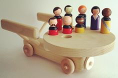 Star Trek: The Next Generation peg people play set! Pegs hand painted by Hello Kiddo Handmade. Wooden Enterprise made by Mountain View Toys on Etsy. Purchasing info here: https://www.facebook.com/photo.php?fbid=705050999522852&set=a.284161178278505.80949.284105264950763&type=1&theater