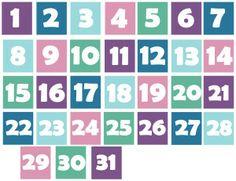 winter-numbers Calendar printables