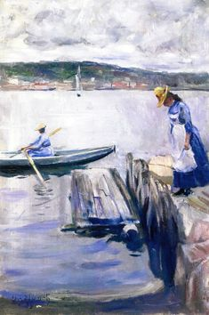 Edvard Munch - Summer Day on the Pier 1888 Private collection