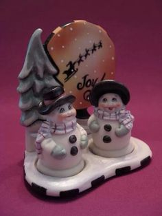 Mr and Mrs Snow Salt and Pepper Shakers
