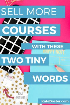 Selling online courses is tough. Make more online courses, programs and ebooks sales using these two magic words. Click to read or re-pin for later