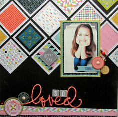 Nicole Nowosad: So Loved #layout #BasicGrey #scrapbook
