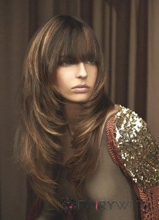 This is my goal!  My hair is not quite this long but this is my cut.  I just love this layered, feathered look!