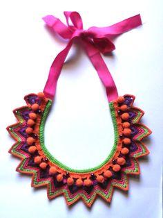 Colar tribal crochet -  http://www.facebook.com/ArtesdaSilvia