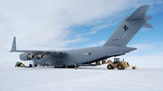 A RAAF C-17 Globemaster has delivered over 12 tonnes of cargo including a Hägglunds tracked vehicle to Wilkins Aerodrome, Antarctica, in support of the Australian Antarctic program.Saturday's flight from Hobart was the second in a series of proof of concept flights to Wilkins – which serves the nearby Australian Antarctic base of Casey Station – being operated between early November through to February to validate the use of the C-17 to support Australian Antarctic Division operations.