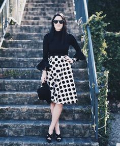 This polka dot skirt has become an absolute staple in my closet.