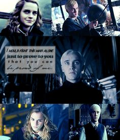 Draco Malfoy and Hermione Granger. Harry Potter Film, Harry Potter Ships, Harry Potter Love, Harry Potter World, Harry Potter Memes, Draco And Hermione, Draco Malfoy, Hermione Granger, Dramione