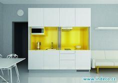 I malý prostor je možné oživit - žluté lamino. www.indeco.cz