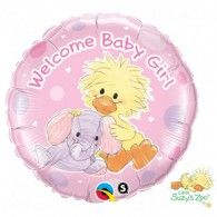 45cm Witzy Pink Welcome Baby Girl Duck $9.95 (filled with Helium in store) Q65465 Disney Balloons, Helium Balloons, Foil Balloons, Latex Balloons, Wholesale Party Supplies, Kids Party Supplies, Wedding Balloons, Birthday Balloons, Balloon Decorations