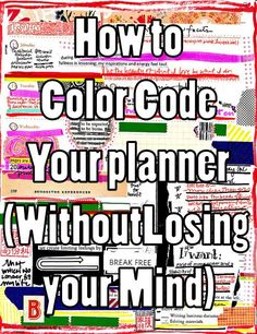 The College Girl Daily: How to color code your planner (without losing your mind)