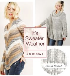 It's Sweater Weather! Knit Sweaters, Fall Collections, Sweater Weather, Shop Now, Turtle Neck, Pullover, Knitting, Shopping, Style