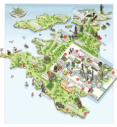 Guide to the Best of Britain - Traditional Home® A cute map!
