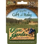 Product Details Olive Garden $25 Gift Card Enjoy scrumptious Italian cuisine with the Olive Garden $25 Gift Card. This card can also be used at any Red Lobster, LongHorn Steakhouse, Bahama Breeze, or any other Darden restaurant in the United States for enjoying a delicious feast. The LongHorn Steakhouse coupon can be a wonderful gift for steak lovers who enjoy dining out on the town. Use this Darden gift card to arrange a surprise dinner party with a loved one.