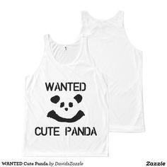WANTED Cute Panda  #clothes #fashion #apparel #men #women #kids #adult #boy #girl #shirt #t-shirt #tee #hoody #sweatshirt #long #sleeve #short #zipper #pull #over #style #life #lifestyle #gear #baby #toddler #newborn