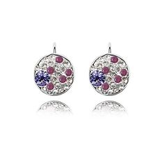 Topro Swarovski Elements My Dream in You Cherry Style Crystal Earing Color Purple ** You can find out more details at the link of the image. Note:It is Affiliate Link to Amazon.