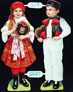 Vintage German Boy and Girl