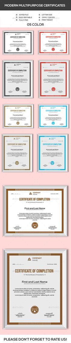 Certificates Template Bundle - Certificate Template Vector EPS - Corporate Certificate Template
