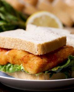 Fancy AF Fish Finger Sandwich Recipe by Tasty