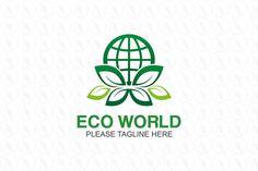 Eco World Logo - $301(negotiable) http://www.stronglogos.com/product/eco-world-logo #logo #design #sale #ecology #technology #environment #world #green #power #nature