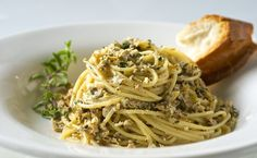Italian Spaghetti with Clam Sauce in Recipes on The Food Channel®