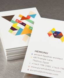 Preview image of Business Card design 'Hemiunu'