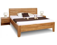 Výsledek obrázku pro dřevěné postele 180x200