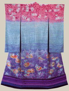 Kimono created by Japanese artist Itchiku Kubota