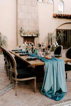 This full gathered Ocean Blue Plush Velvet linen creates a luxurious runner on this wood table at Blackstone Country Club Fairy Wedding Dress, Luxury Wedding Dress, Sexy Wedding Dresses, Cheap Wedding Dress, Wedding Reception Planning, Event Planning, Wedding Events, Wedding Ceremony, Wedding Ideas