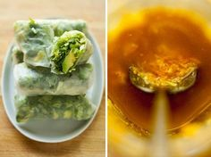 SPRING ROLLS WITH CARROT GINGER MISO SAUCE