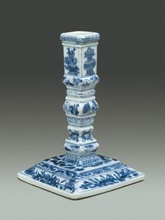 Taperstick  Date: ca. 1700–10 Culture: Chinese, possibly for Dutch or English market Medium: Hard-paste porcelain Dimensions: Height: 5 1/4 in. (13.3 cm) Classification: Ceramics-Porcelain-Export Credit Line: Helena Woolworth McCann Collection, Purchase, Winfield Foundation Gift, 1970