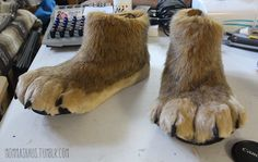 "mommashaus: "" Slim Fursuit Feet Paw Tutorial. Just finished a second set of feet paws for Halla because my first set isn't very comfortable for a lot of walking. These feet are significantly smaller..."