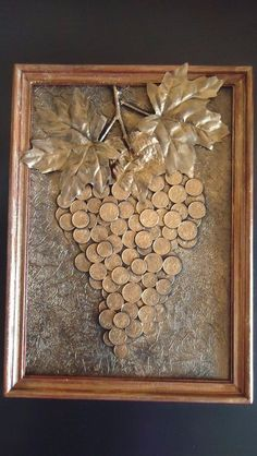 Diy Crafts - -Fitness art images Ideas for 2019 fitness Coin Crafts, Diy And Crafts, Arts And Crafts, Art Crafts, Button Art, Button Crafts, Wine Cork Art, Coin Art, Pebble Art