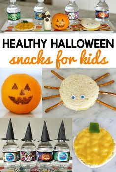 Super cute and healthy Halloween snacks for kids you can make in just minutes! Perfect for class parties or after school snacks. Halloween Activities For Kids, Creative Activities For Kids, Autumn Activities For Kids, Creative Kids, Fall Snacks, Healthy Snacks For Kids, Halloween Treats, Halloween Fun, Raspberry Leaf Tea