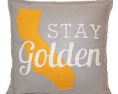 Stay Golden California Felt Pillow - this would be fun to make for my couch